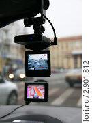 Купить «Видеорегистратор в салоне автомобиля», эксклюзивное фото № 2901812, снято 21 октября 2011 г. (c) Щеголева Ольга / Фотобанк Лори
