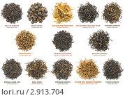 Купить «Коллекция черного чая», фото № 2913704, снято 17 мая 2011 г. (c) Анна Кучерова / Фотобанк Лори