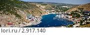 Купить «Крым, панорама Балаклавской бухты», фото № 2917140, снято 29 марта 2020 г. (c) Наталья Белотелова / Фотобанк Лори