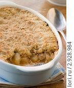 Купить «Насыпной пирог с яблоками», фото № 2928984, снято 10 декабря 2007 г. (c) Monkey Business Images / Фотобанк Лори