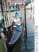 Гондола на Большом канале в Венеции (2011 год). Стоковое фото, фотограф igor faustov / Фотобанк Лори