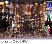 Купить «Лавка торговца светильниками в Марракеше, Марокко», фото № 2930408, снято 12 августа 2008 г. (c) Владимир Горощенко / Фотобанк Лори