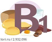 Купить «Содержание витамина В1 в продуктах», иллюстрация № 2932096 (c) ivolodina / Фотобанк Лори
