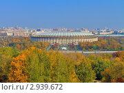 Купить «Большая спортивная арена, Лужники, Москва», фото № 2939672, снято 8 октября 2011 г. (c) Fro / Фотобанк Лори