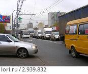 Купить «Москва. Плотное движение на Щелковском шоссе», эксклюзивное фото № 2939832, снято 3 ноября 2011 г. (c) lana1501 / Фотобанк Лори