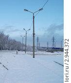 Зима, окраина города, промышленный район. Стоковое фото, фотограф Инна Нестерова / Фотобанк Лори