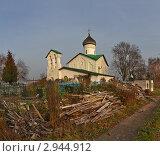 Купить «Никольская церковь в деревне Устье Псковской области», фото № 2944912, снято 5 ноября 2011 г. (c) Валентина Троль / Фотобанк Лори