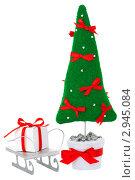 Рождественские игрушки на белом фоне. Стоковое фото, фотограф Иван Коваленко / Фотобанк Лори