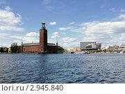 Вид на Ратушу и Waterfront Hotel. Стокгольм. (2011 год). Редакционное фото, фотограф Сергей Разживин / Фотобанк Лори