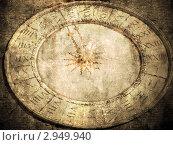 Купить «Солнечные часы, стилизация под старую открытку», фото № 2949940, снято 13 декабря 2019 г. (c) Алексей Кокоулин / Фотобанк Лори