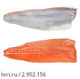 Купить «Филе лосося на белом фоне», фото № 2952156, снято 19 июня 2019 г. (c) Руслан Григолава / Фотобанк Лори