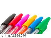 Цветные шариковые ручки. Стоковое фото, фотограф Александр Харченко / Фотобанк Лори