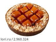 Купить «Пирог с орехами на белом фоне», эксклюзивное фото № 2960324, снято 27 октября 2011 г. (c) Дмитрий Неумоин / Фотобанк Лори