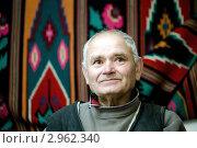Купить «Портрет пожилого, семидесятилетнего, мужчины в интерьере», фото № 2962340, снято 28 октября 2009 г. (c) Величко Микола / Фотобанк Лори
