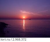 Восход солнца на Черном море. Стоковое фото, фотограф Ковальский Сергей / Фотобанк Лори