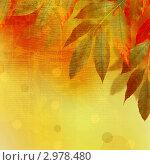 Яркий осенний фон с листьями. Стоковая иллюстрация, иллюстратор Lora Liu / Фотобанк Лори