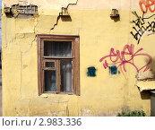 Старый дом, окно (2011 год). Стоковое фото, фотограф Владимир Заблоцкий / Фотобанк Лори