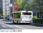 Купить «Москва, городской автобус», фото № 2983860, снято 12 мая 2011 г. (c) Владимир Горощенко / Фотобанк Лори
