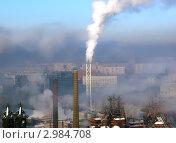 Купить «Смог над городом», эксклюзивное фото № 2984708, снято 10 января 2004 г. (c) Евгений Ткачёв / Фотобанк Лори
