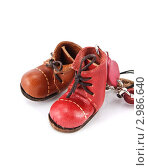 Разноцветные ботинки. Стоковое фото, фотограф Владимир Трушин / Фотобанк Лори