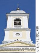 Купить «Колокольня. Собор Успения Пресвятой Богородицы (1805-1820 гг.) в г.Мышкин. Ярославская область», эксклюзивное фото № 2992780, снято 14 мая 2011 г. (c) stargal / Фотобанк Лори