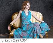 Купить «Девушка в кресле», фото № 2997364, снято 23 ноября 2011 г. (c) Pukhov K / Фотобанк Лори