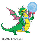 Купить «Дракончик, иллюстрация», иллюстрация № 3000984 (c) Татьяна Мельникова / Фотобанк Лори
