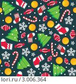 Купить «Бесшовный рождественский фон», иллюстрация № 3006364 (c) Рада Коваленко / Фотобанк Лори