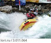 Купить «Сплав по горной реке», фото № 3011064, снято 17 июня 2008 г. (c) Александр Литовченко / Фотобанк Лори
