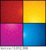 Набор цветных баннеров с имитацией брызг. Стоковая иллюстрация, иллюстратор PILart / Фотобанк Лори