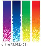 Разноцветные вертикальные баннеры на белом фоне. Стоковая иллюстрация, иллюстратор PILart / Фотобанк Лори