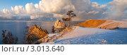 Купить «Байкал. Декабрьский вечер на Ольхоне. Панорама», фото № 3013640, снято 3 декабря 2011 г. (c) Виктория Катьянова / Фотобанк Лори