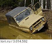 Купить «УАЗ утонул в болоте», фото № 3014592, снято 20 мая 2006 г. (c) Евгений Ткачёв / Фотобанк Лори