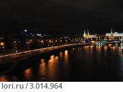 Ночной кремль (2011 год). Редакционное фото, фотограф Наталья Сорокина / Фотобанк Лори