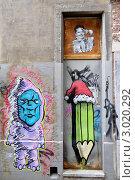 Купить «Бельгия. Граффити на стене здания», эксклюзивное фото № 3020292, снято 23 июля 2011 г. (c) Илюхина Наталья / Фотобанк Лори