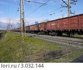 Товарный поезд (2011 год). Редакционное фото, фотограф OlgaM. / Фотобанк Лори