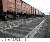 Товарный поезд. Стоковое фото, фотограф OlgaM. / Фотобанк Лори