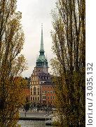 Вид на старый город. Стокгольм. (2011 год). Стоковое фото, фотограф Сергей Разживин / Фотобанк Лори