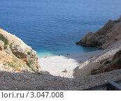 Турецкий пляж на берегу Средиземного моря. Стоковое фото, фотограф Воробьева Елена / Фотобанк Лори