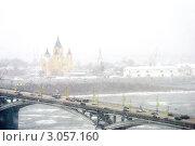 Снегопад в Нижнем Новгороде (2011 год). Редакционное фото, фотограф Терещенко Марина / Фотобанк Лори