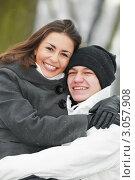 Купить «Счастливая влюбленная пара», фото № 3057908, снято 6 декабря 2019 г. (c) Дмитрий Калиновский / Фотобанк Лори