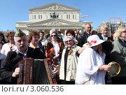 Купить «Москва, народные гулянья 9 мая 2011 года», эксклюзивное фото № 3060536, снято 9 мая 2011 г. (c) Дмитрий Неумоин / Фотобанк Лори