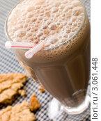 Купить «Шоколадный молочный коктейль с двумя трубочками», фото № 3061448, снято 29 мая 2007 г. (c) Monkey Business Images / Фотобанк Лори