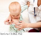 Купить «Педиатрия. Маленький ребенок на приеме у врача», фото № 3062152, снято 17 октября 2009 г. (c) Дмитрий Наумов / Фотобанк Лори