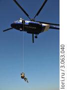 Купить «Десантирование с вертолёта», эксклюзивное фото № 3063040, снято 14 октября 2011 г. (c) Free Wind / Фотобанк Лори