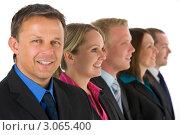 Купить «Портрет делового мужчины на фоне коллег», фото № 3065400, снято 19 ноября 2018 г. (c) Monkey Business Images / Фотобанк Лори