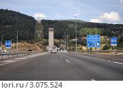Въезд в тоннель, автострада Мадрид-Сеговия, Испания. Редакционное фото, фотограф Татьяна Королева / Фотобанк Лори
