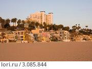 Пляж. Санта-Моника, Лос-Анжелес, Калифорния (2009 год). Редакционное фото, фотограф Екатерина Федорова / Фотобанк Лори