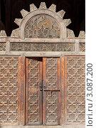 Купить «Деревянная резная дверь в мечеть «Али бен Юсуф», Марокко», фото № 3087200, снято 28 октября 2010 г. (c) Олег Селезнев / Фотобанк Лори