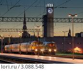 Рижский центральный железнодорожный вокзал. Рига, Латвия (2009 год). Стоковое фото, фотограф Jelena Dautova / Фотобанк Лори